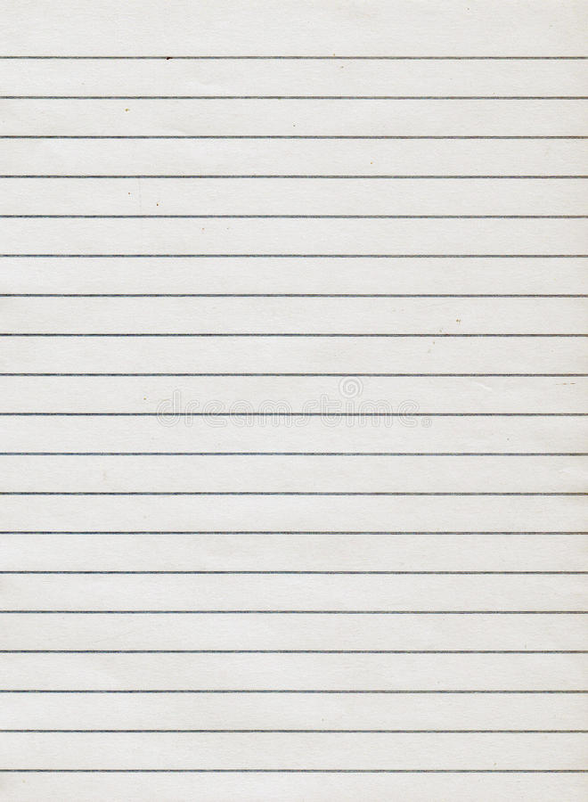 Download Lined Paper. Stock Photo: Old Notebook Page Lined Paper