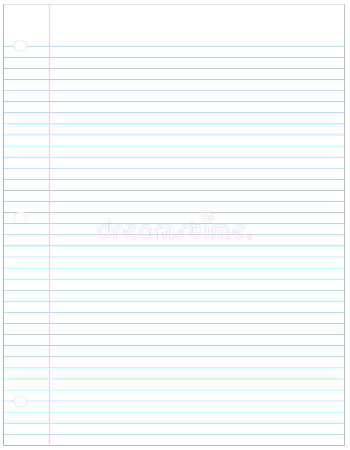 Free Lined Paper Stock Image - 4894971