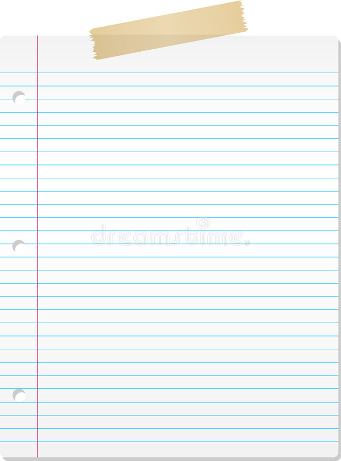 Lined Paper Stock Vector Illustration Of Paper Supplies