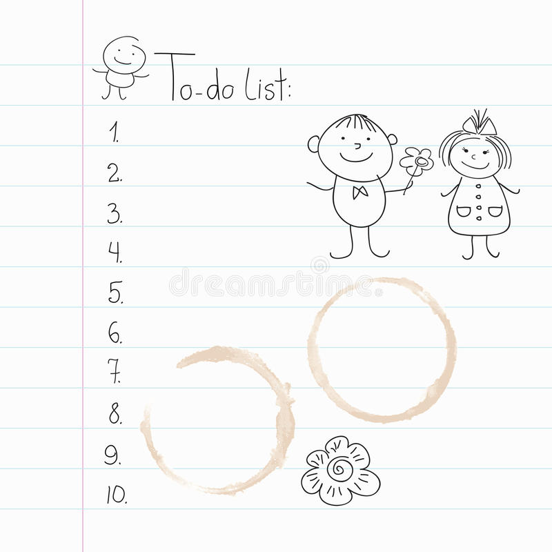 Download Lined Paper, Coffee Stains And Doodles Royalty Free Stock Photo - Image: 19316165