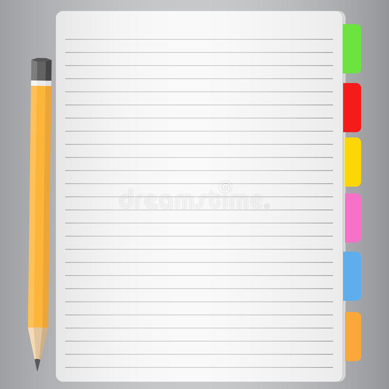 Download Lined Paper And Pencil Royalty Free Stock Images - Image: 20702259