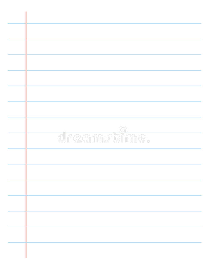 Lined Paper / Ruled page stock illustration
