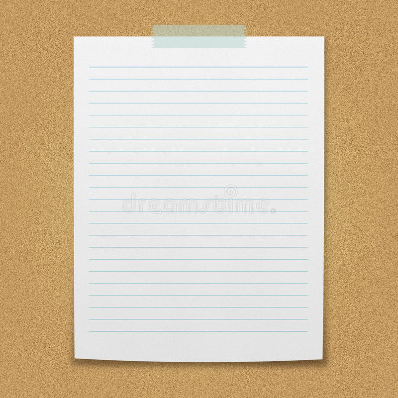 Lined Paper Sheet Stock Illustration Illustration Of Design