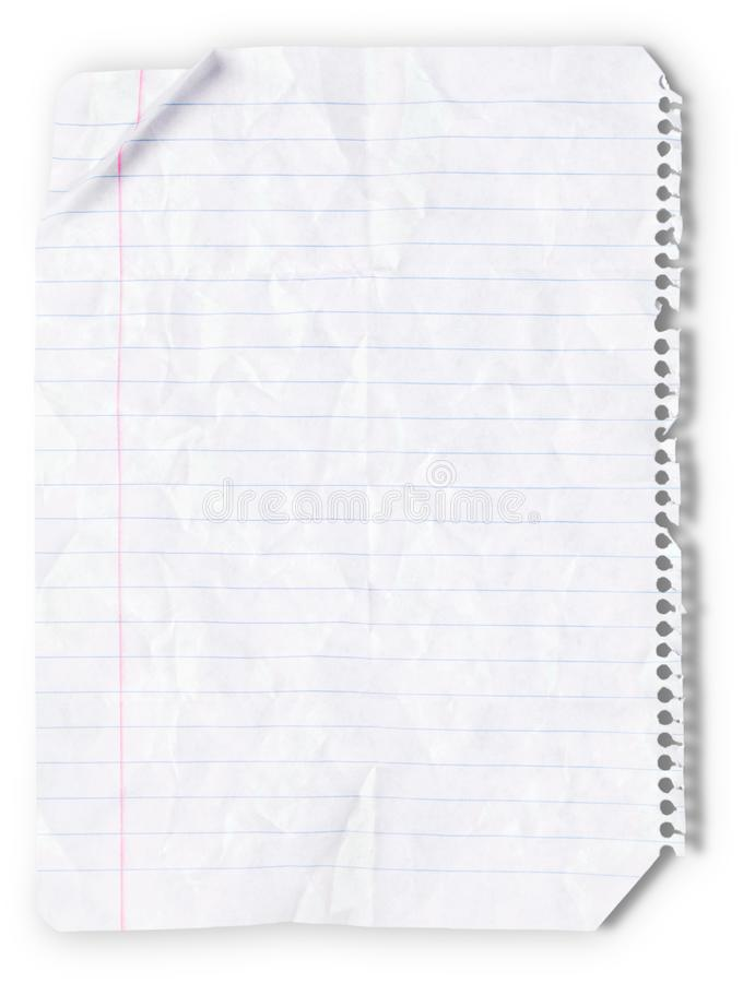 Lined Paper royalty free stock images