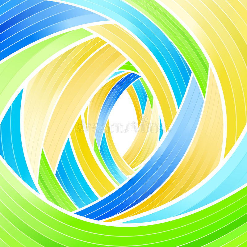 Lined stripes spiraling background stock photo