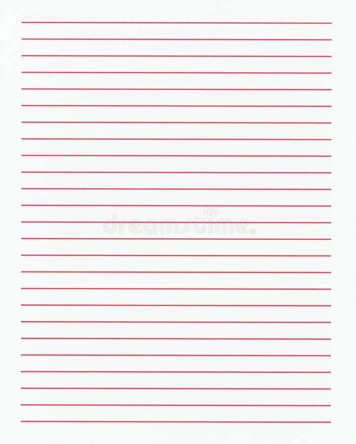 lined white paper with red lines texture background stock photo
