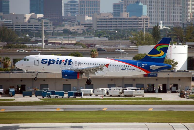 Linee aeree Airbus A320 di spirito fotografia stock libera da diritti
