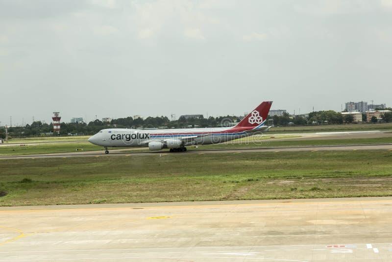 Linee aeree di Cargolux internazionali fotografie stock
