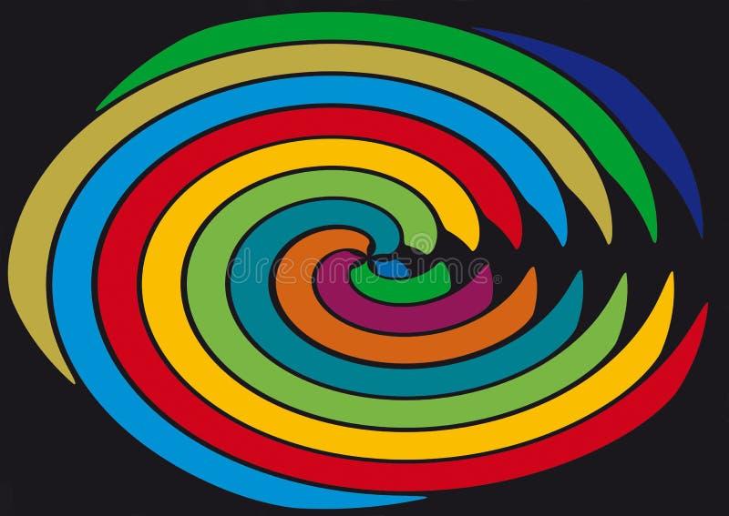 Linee allegre nella forma rotonda royalty illustrazione gratis