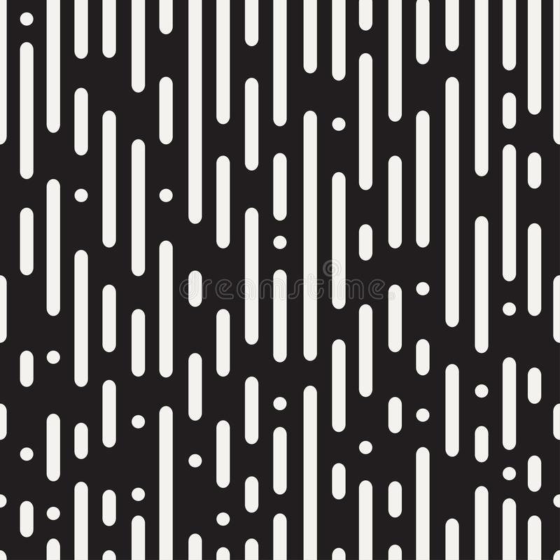 Linee arrotondate modello senza cuciture Fondo astratto in bianco e nero royalty illustrazione gratis