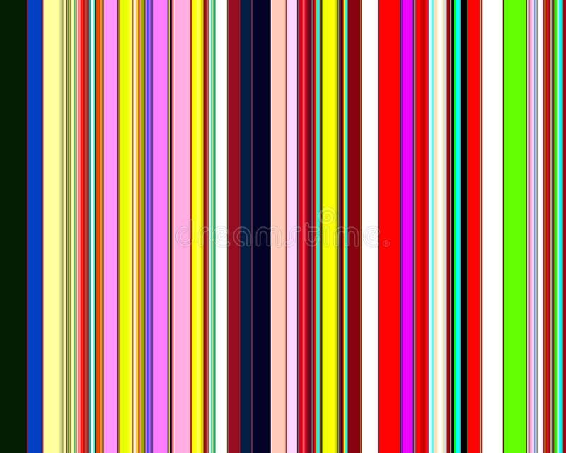 Linee astratte allegre variopinte, modello illustrazione di stock