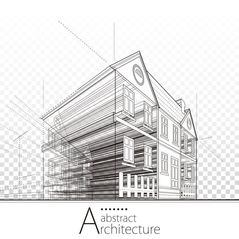 Linee astratte architettoniche di prospettiva royalty illustrazione gratis