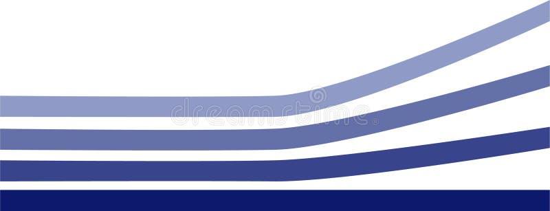 Linee aumentanti blu royalty illustrazione gratis