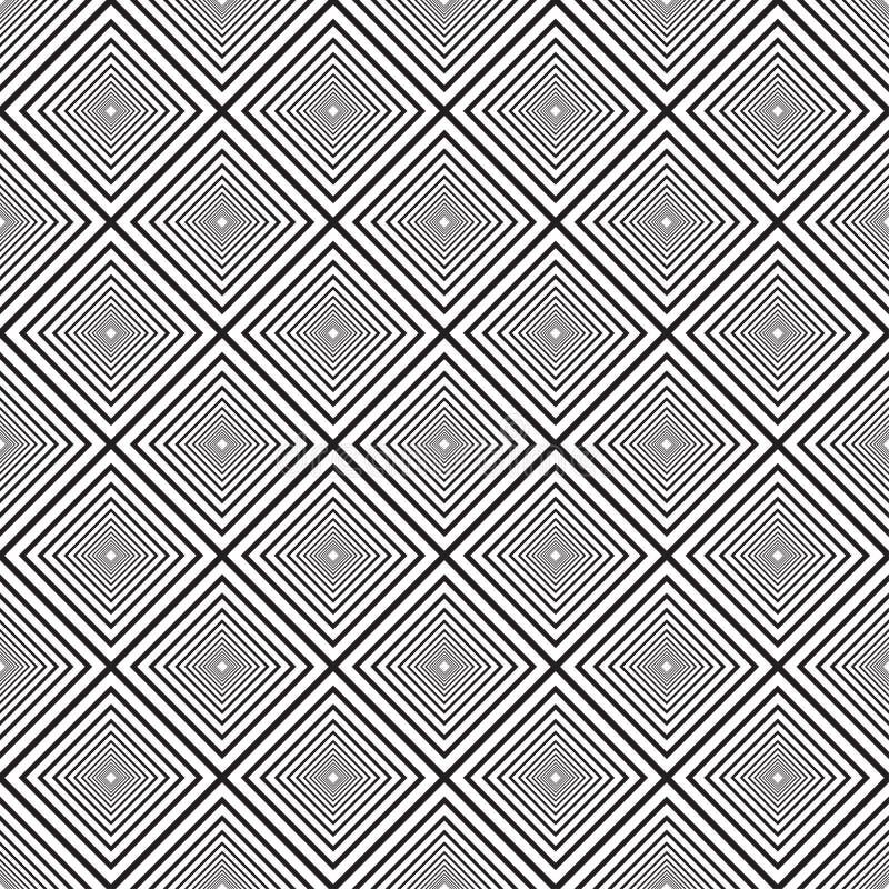 Linee in bianco e nero senza cuciture fondo di vettore dell'estratto del modello illustrazione di stock