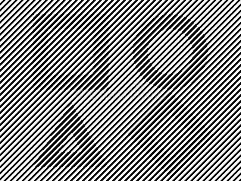 Linee in bianco e nero triangolo del cerchio del quadrato di illusione immagine stock libera da diritti