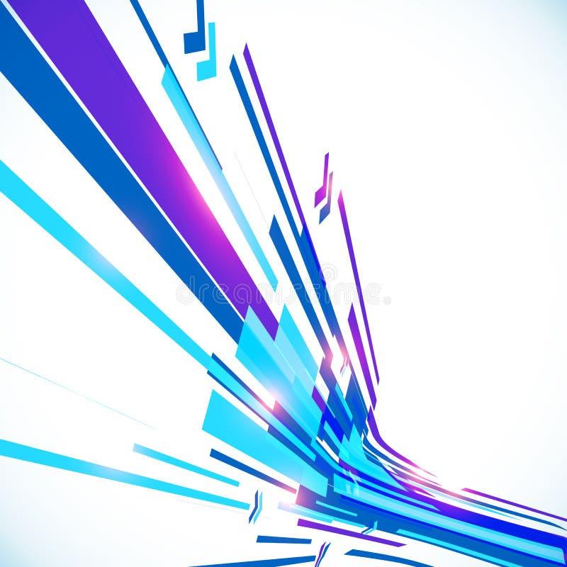 Linee brillanti blu astratte fondo di vettore royalty illustrazione gratis