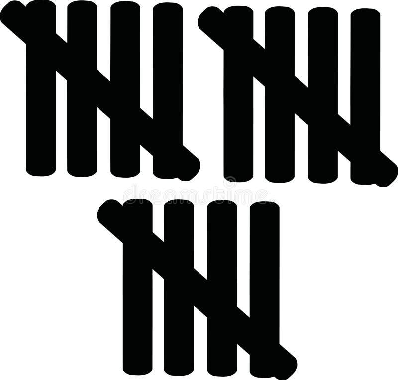 15 linee che contano - quindicesimo compleanno illustrazione vettoriale