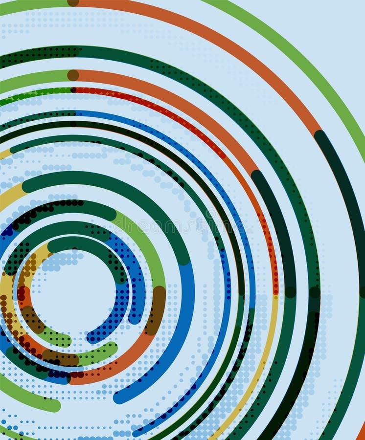 Linee circolari, cerchi, fondo astratto geometrico royalty illustrazione gratis