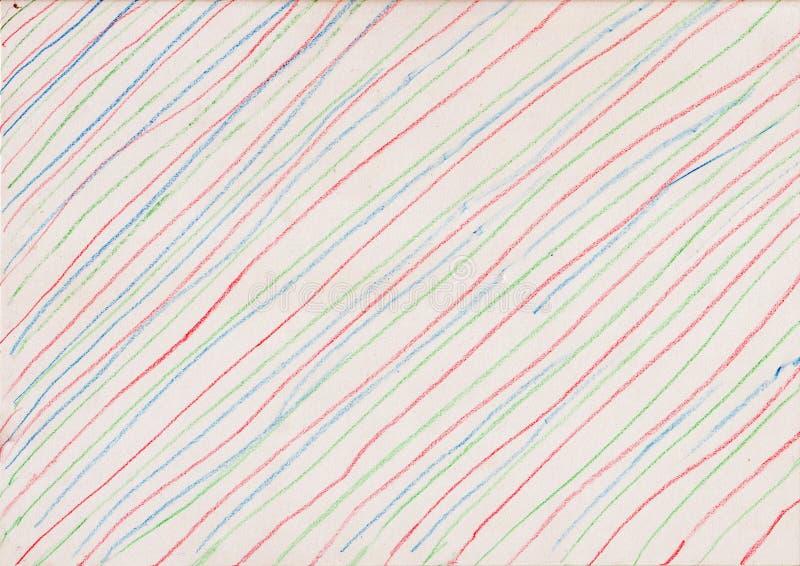 Linee colorate su fondo di carta fotografia stock