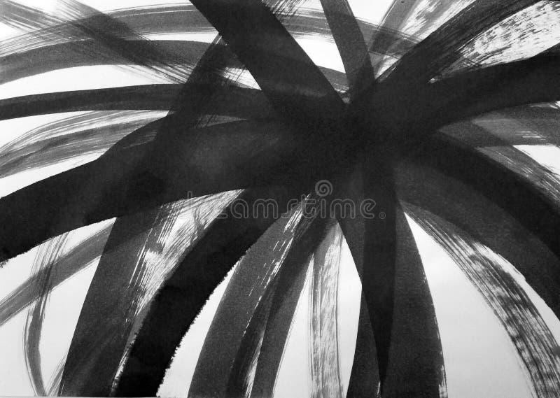 Linee curve disegnate con una spazzola fotografia stock