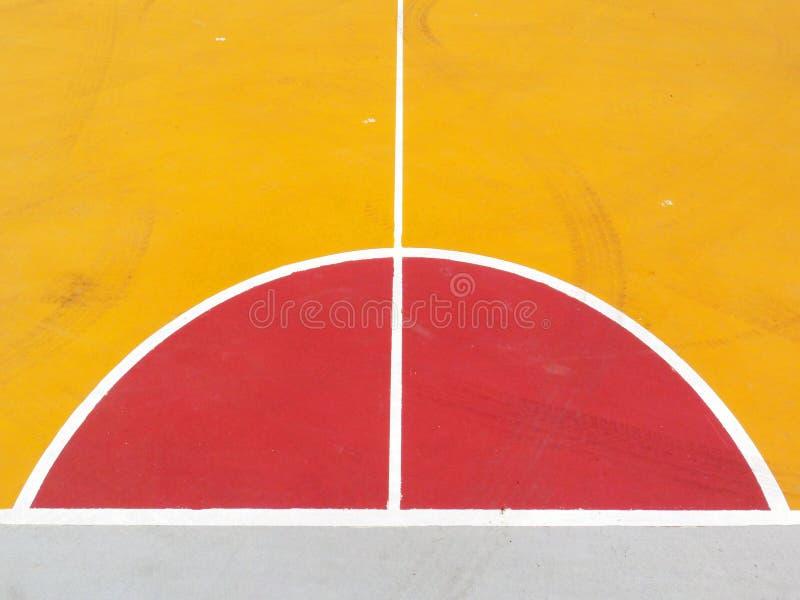 Linee del campo da pallacanestro fotografie stock libere da diritti