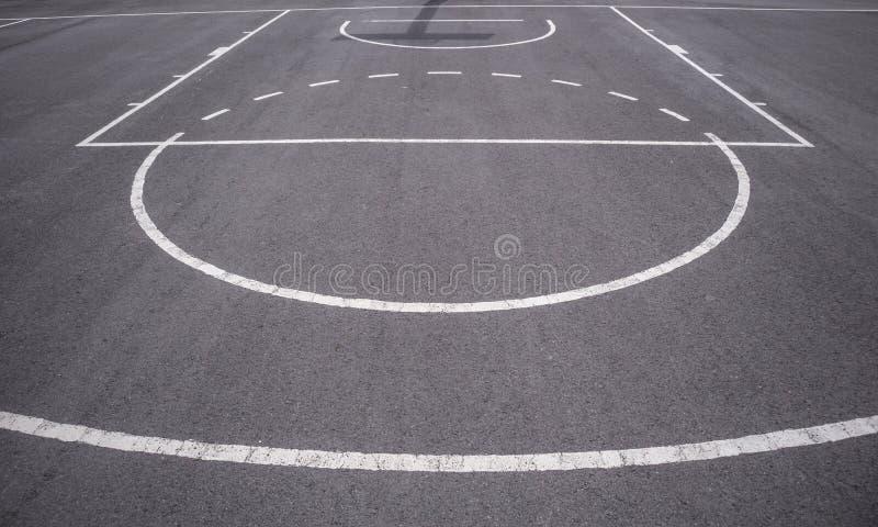 Linee del campo da pallacanestro immagine stock