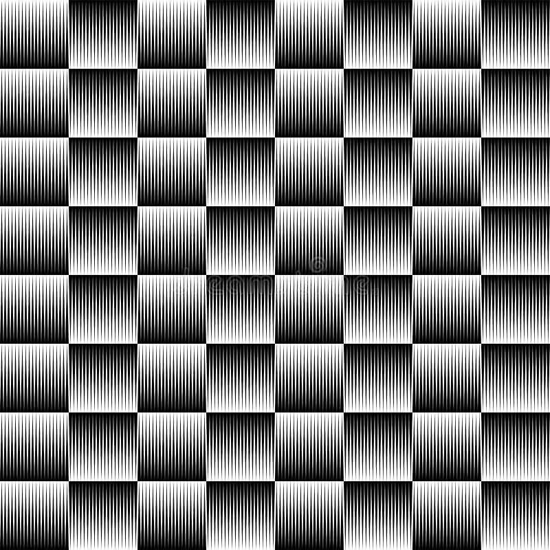 Linee del triangolo nel modello geometrico ripetibile quadrato illustrazione di stock