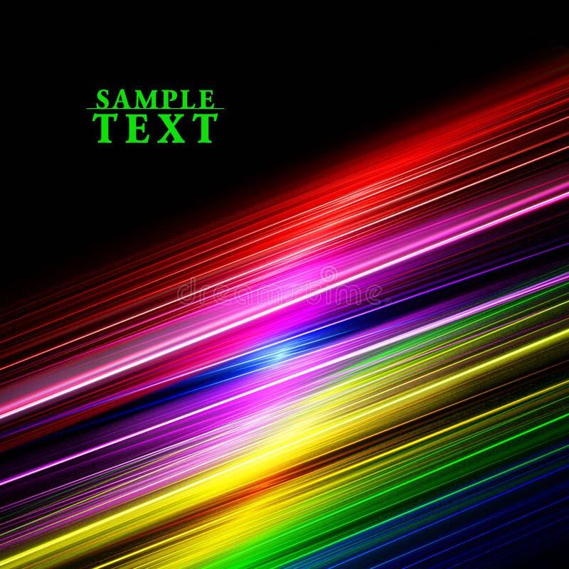 Linee dell'arcobaleno sul nero fotografie stock