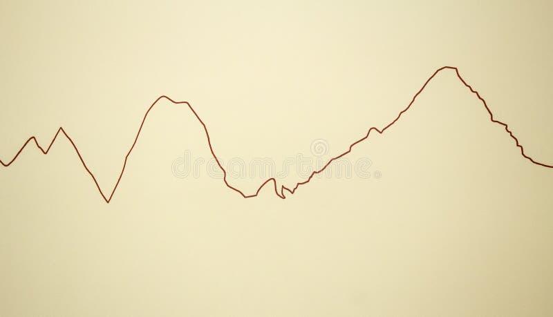 Linee dell'elettrocardiogramma della parete immagine stock