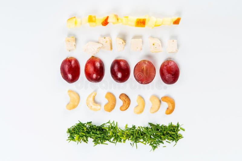 Linee di alimento differente immagine stock