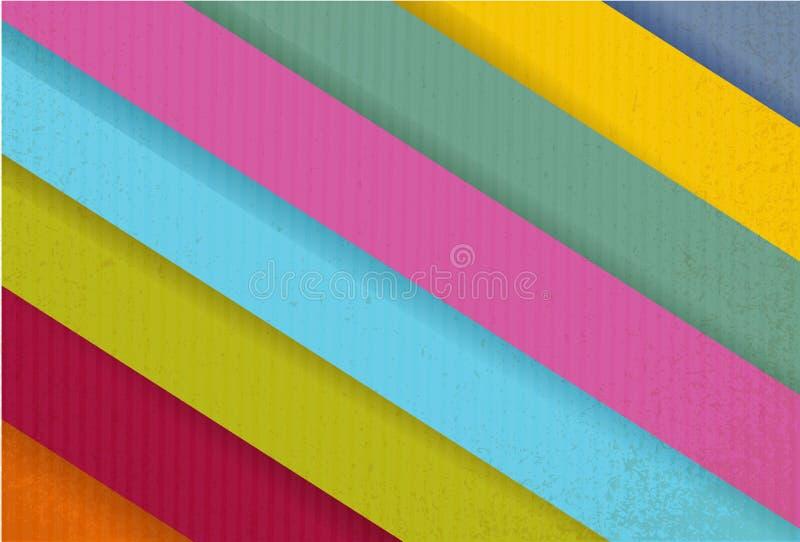 Linee di carta variopinte pronte per la vostra personalizzazione. royalty illustrazione gratis