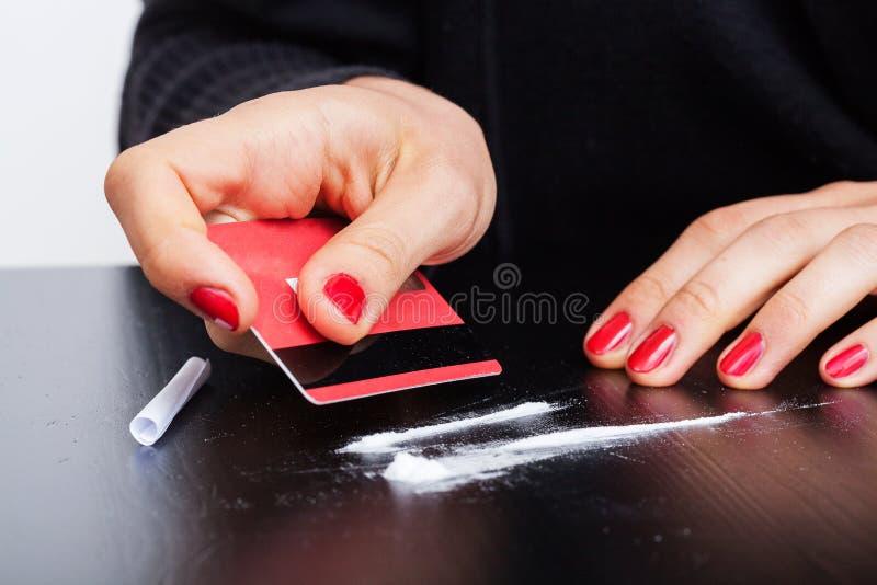 Linee di cocaina fotografia stock libera da diritti