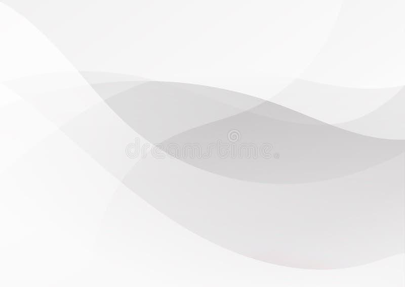 Linee di colore grige nere bianche astratte fondo illustrazione di stock