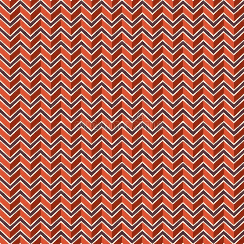 Linee di colore di zigzag modello senza cuciture royalty illustrazione gratis