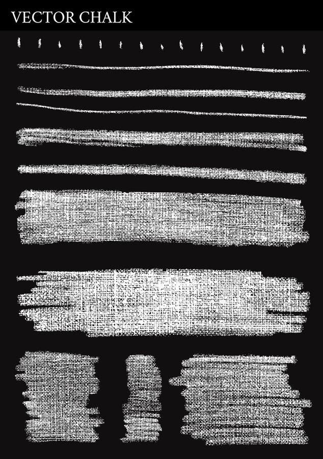 Linee di gesso di vettore illustrazione vettoriale