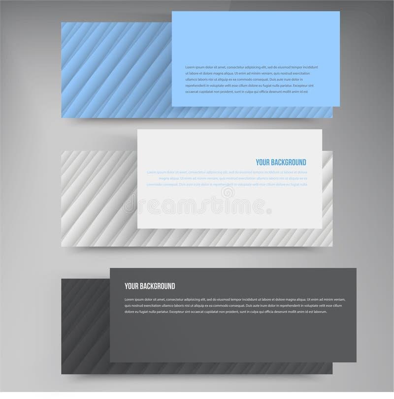 Linee di insegne di vettore Web design di colore illustrazione di stock