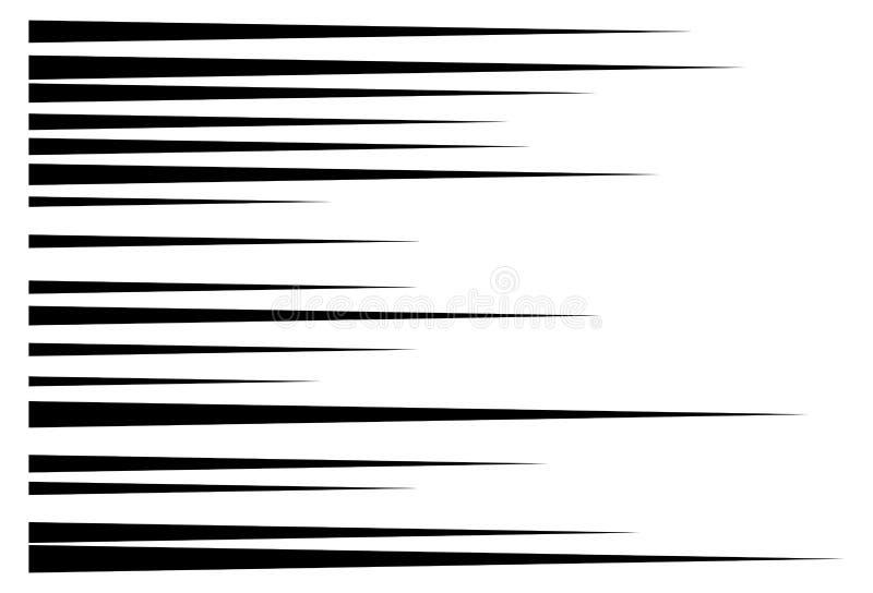 Linee di velocità di moto orizzontale per il libro di fumetti royalty illustrazione gratis