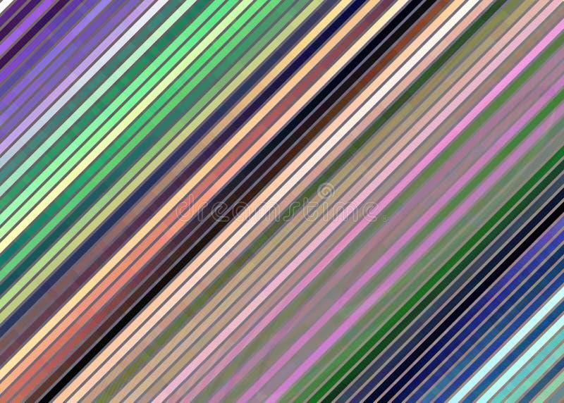 Linee diagonali fondo di fantasia, colori pastelli dell'aereo multicolore royalty illustrazione gratis