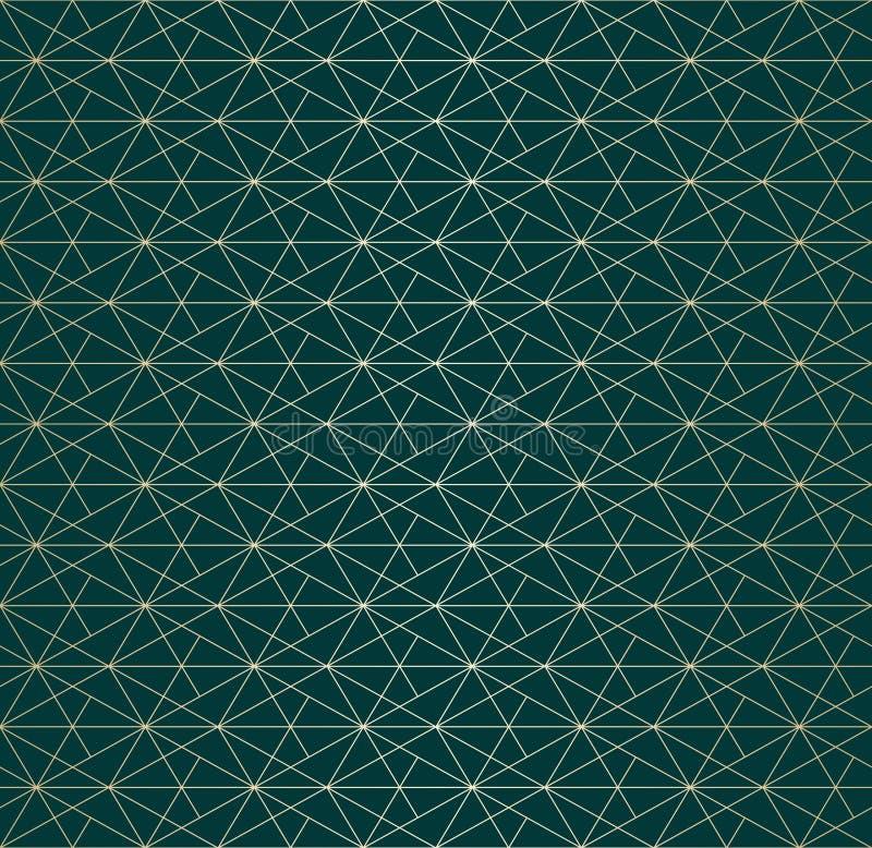 Linee dorate modello Struttura senza cuciture lineare geometrica di vettore Progettazione di lusso illustrazione di stock