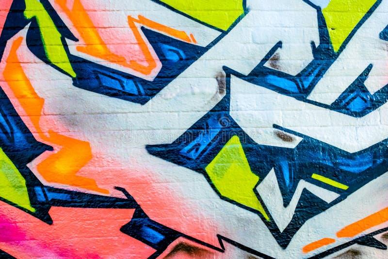 Linee e colori dei graffiti fotografia stock