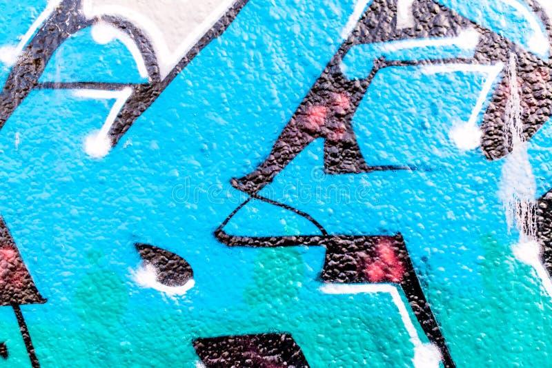 Linee e colori dei graffiti fotografie stock