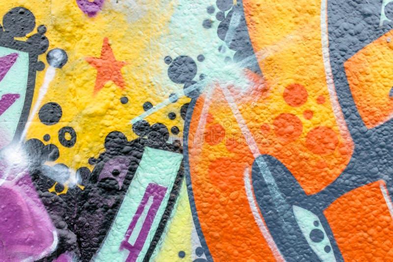 Linee e colori dei graffiti immagine stock libera da diritti
