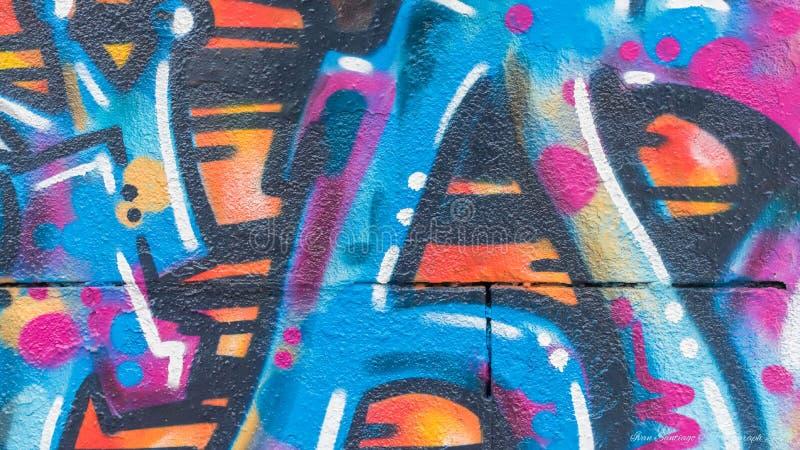 Linee e colori dei graffiti fotografia stock libera da diritti