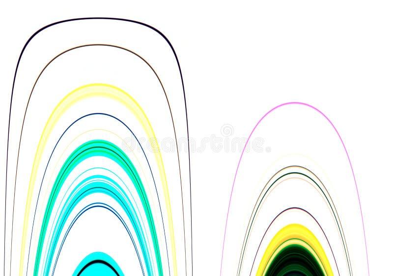 Linee e colori e fondo allegri di forme di contrasto nelle tonalità pastelli immagine stock libera da diritti