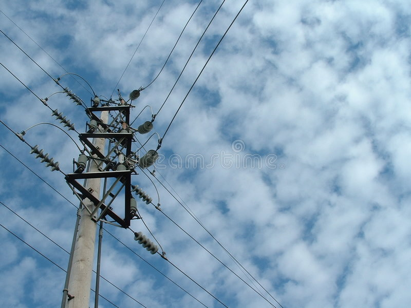 Linee elettriche 2 fotografie stock
