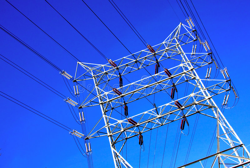 Linee elettriche fotografie stock