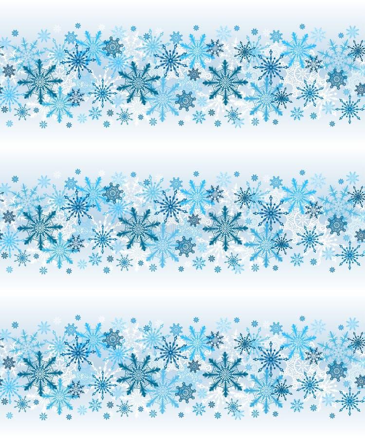 Linee fiocchi di neve senza cuciture di inverno di vettore su fondo leggero fotografia stock