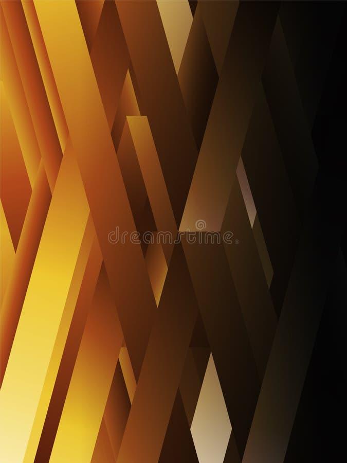 Linee geometriche astratte gialle fondo illustrazione vettoriale