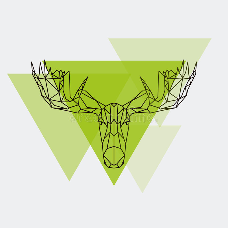 Linee geometriche cape siluetta delle alci royalty illustrazione gratis