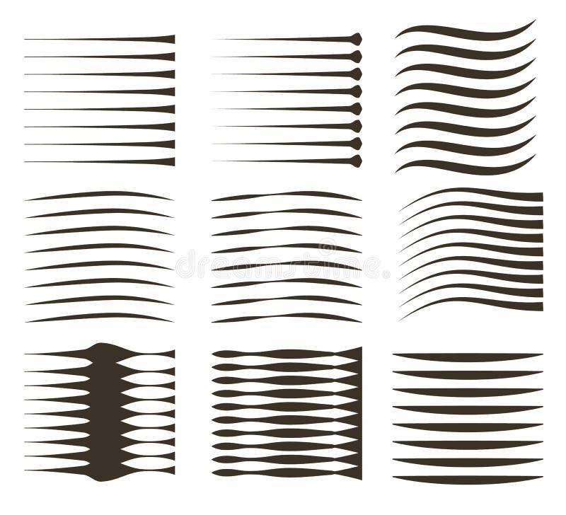 Linee nere su fondo bianco Le linee della velocit? anneriscono gli elementi comici di vettore royalty illustrazione gratis
